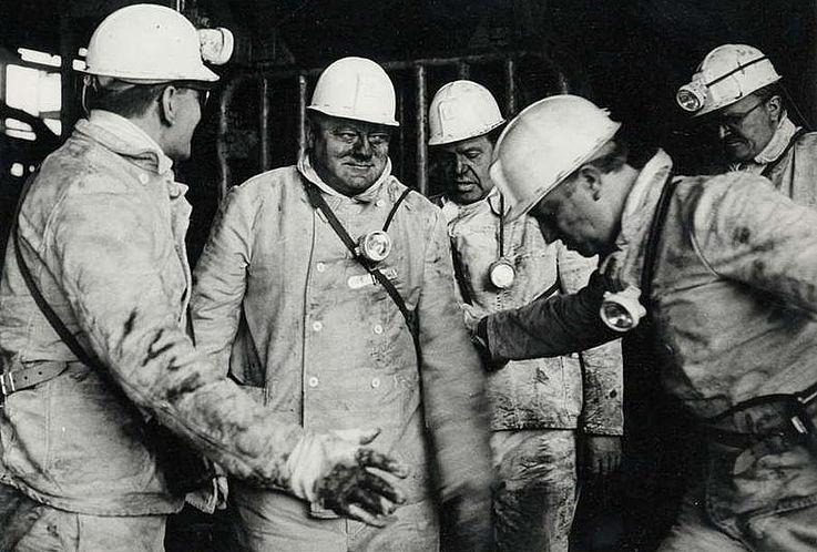 Besuch der Zeche Erin in Castrop-Rauxel anlässlich der Bundestagswahl 1980