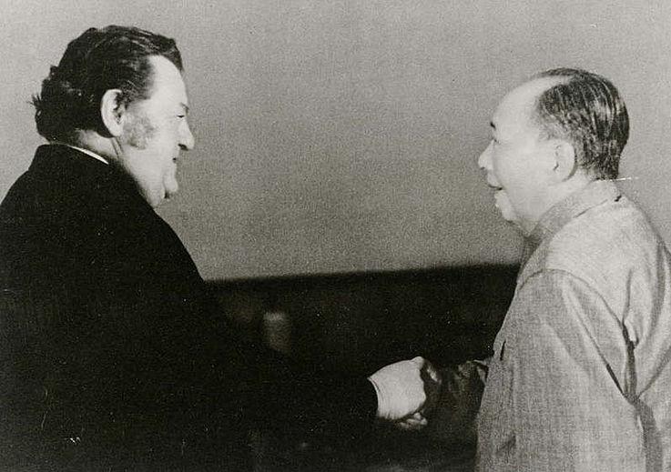 Treffen mit dem Vorsitzenden der Kommunistischen Partei Chimas Mao Tsetung 1975