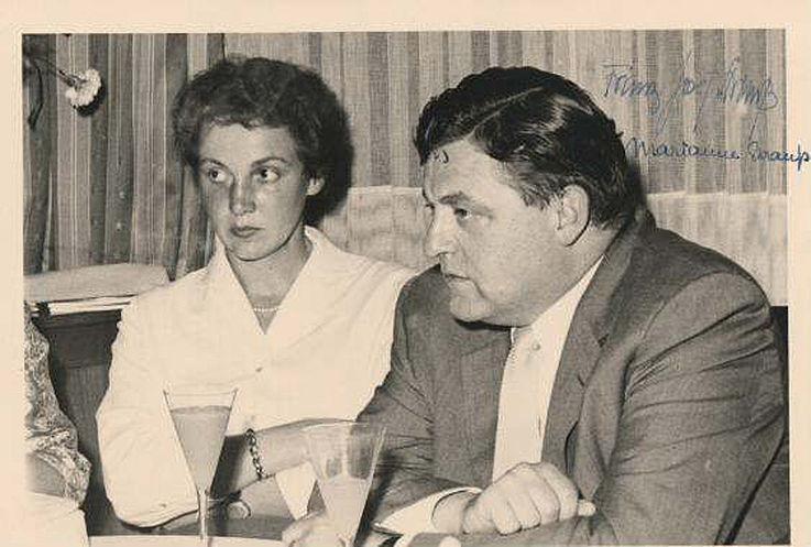Ehepaar Strauß 1957
