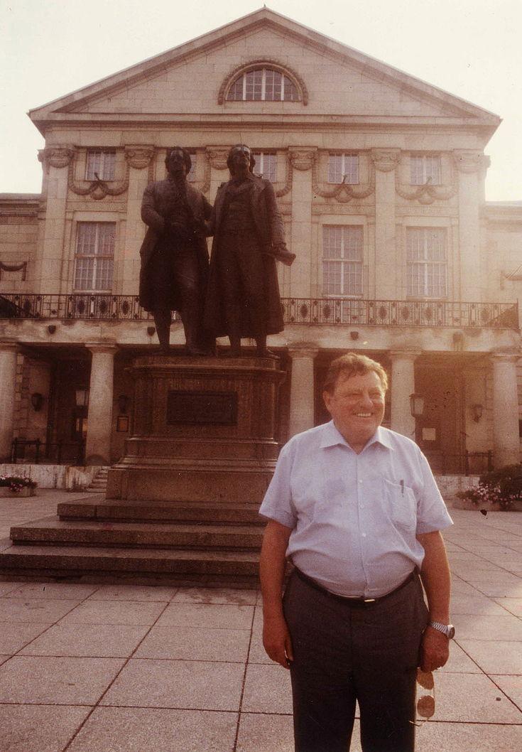 Franz Josef Strauß in Weimar im Juli 1983