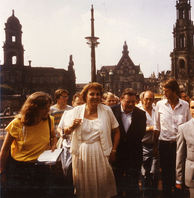 Marianne und Franz Josef Strauß in Dresden im Juli 1983