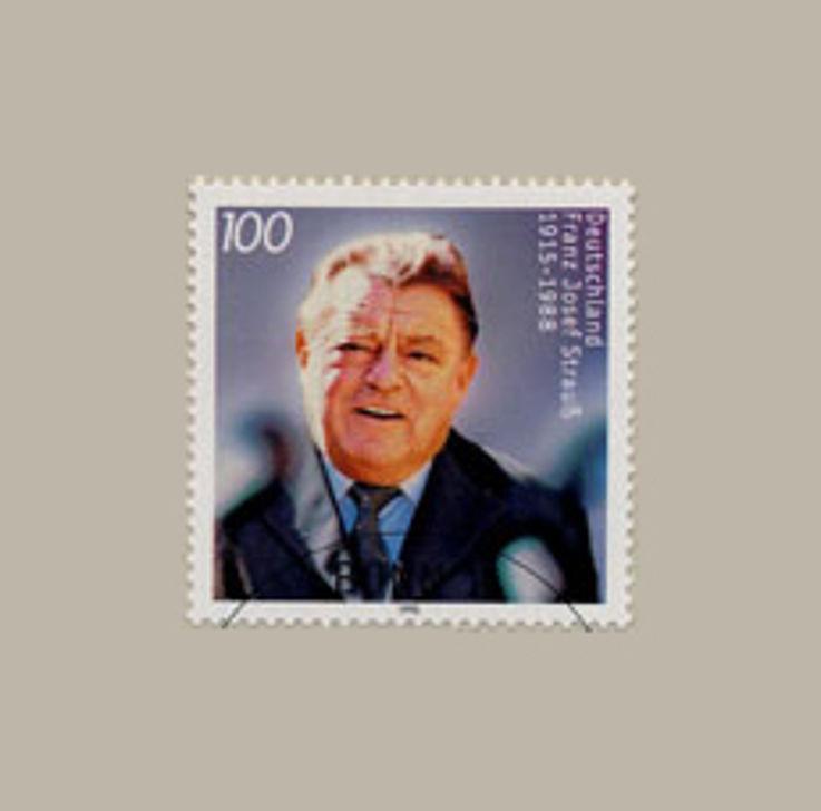 Sonderpostwertzeichen anlässlich des achtzigsten Geburtstages von Franz Josef Strauß 1995