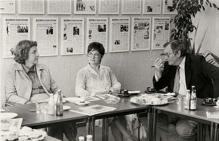 Besuch von Marianne Strauß bei der Neuen Ruhrzeitung 1980 in Essen