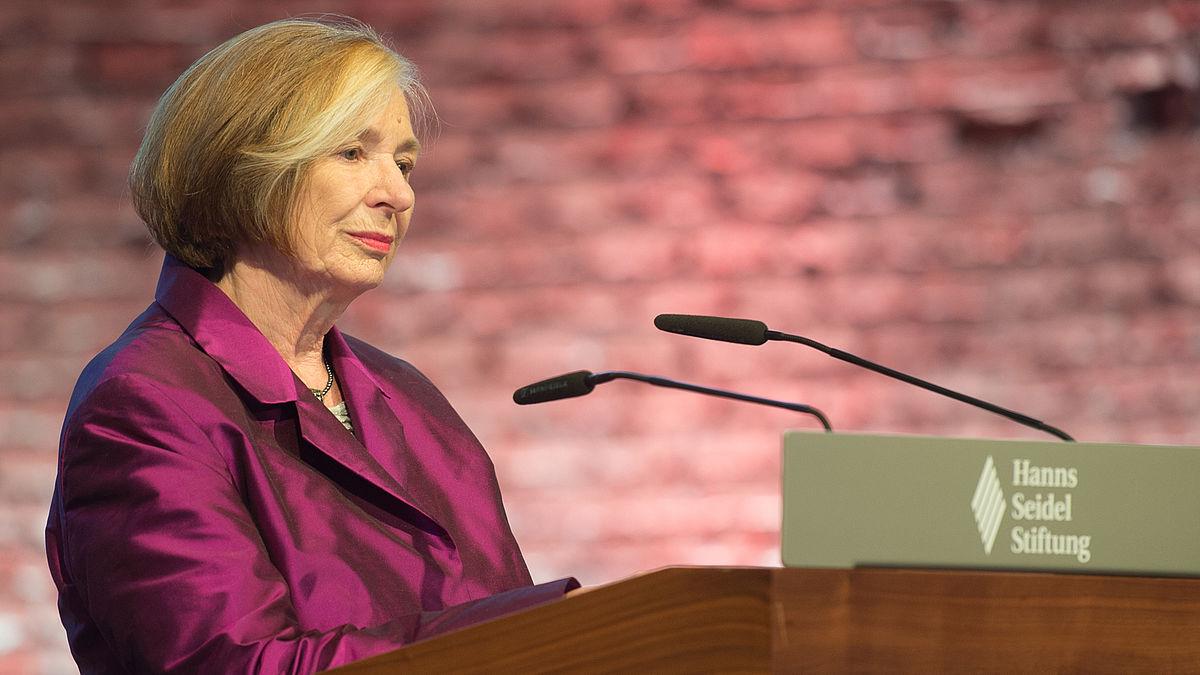 Die Vorsitzende der Hanns-Seidel-Stiftung e.V., Prof. Dr. Ursula Männle, Staatsministerin a. D.