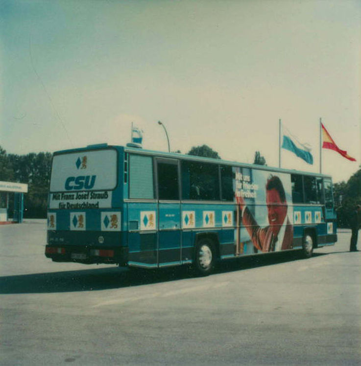 Wahlkampfbus der CSU zur Bundestagswahl 1980