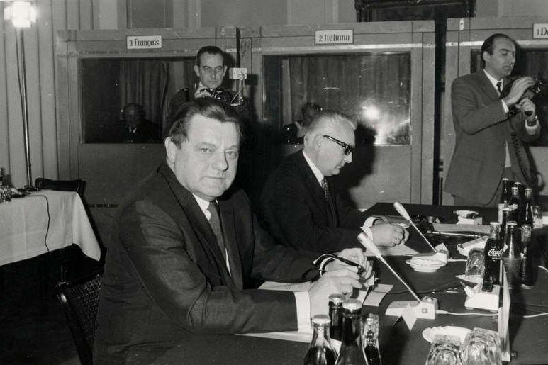 Auf der Währungskonferenz in Brüssel 1968