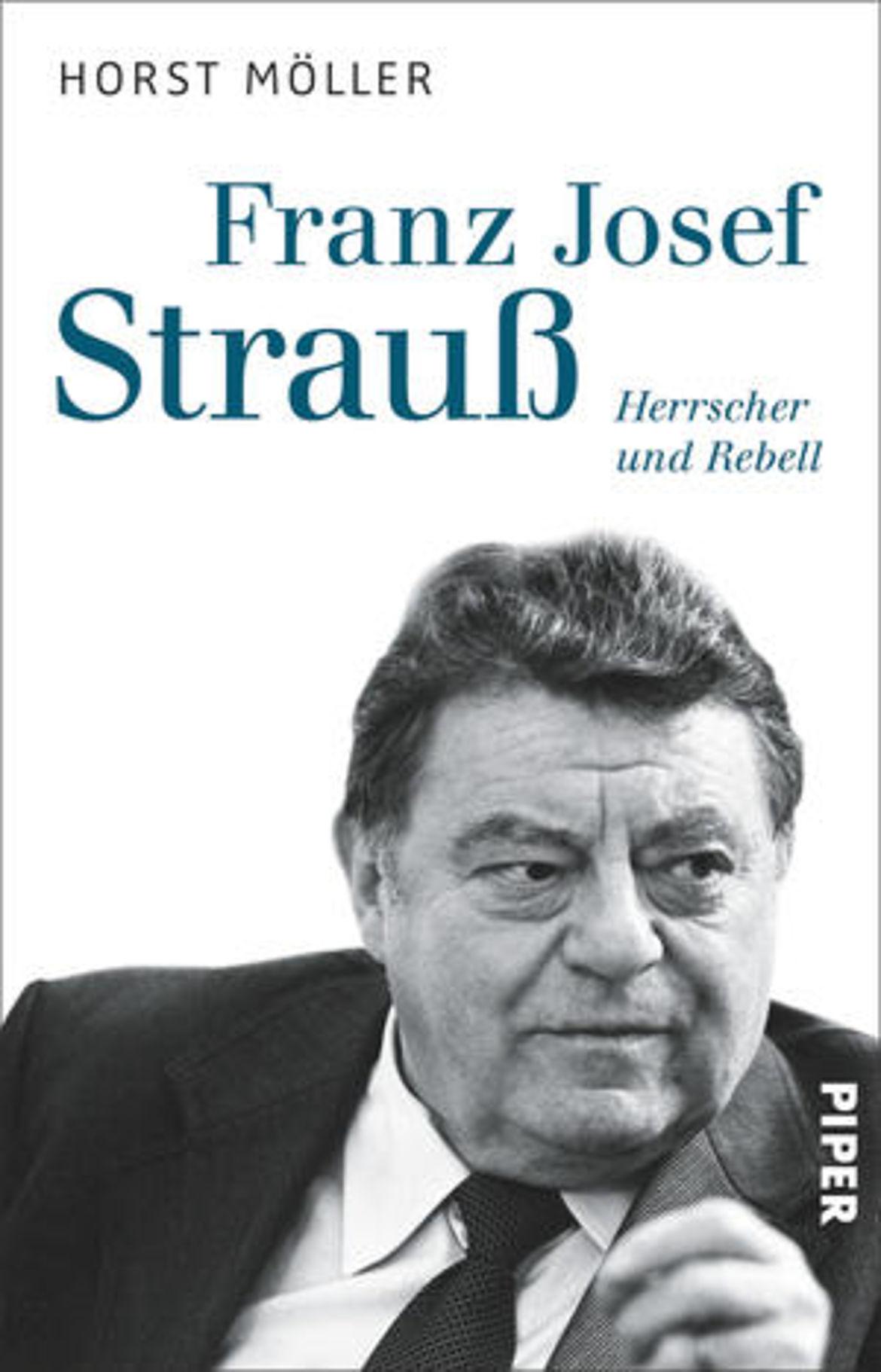 """Buchcover """"Franz Josef Strauß - Herrscher und Rebell"""" unter Verwendung eines Fotos von Winfried Rabanus"""