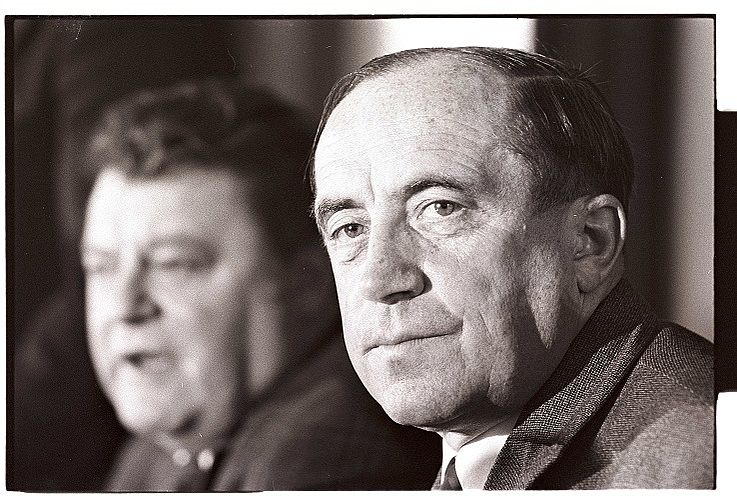 """Mit Franz Josef Strauß auf dem CSU-Parteitag """"Gegen Inflation für Stabilität und Vernunft"""" 1972 in München"""