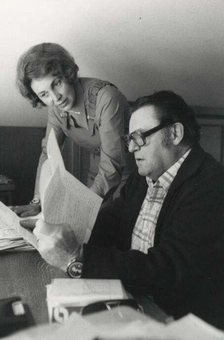 Das Ehepaar Strauß in den 1970er-Jahren