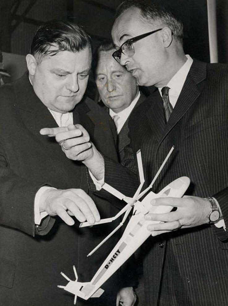 Gespräch mit Ludwig Bölkow 1962 anlässlich der Luftfahrtschau Hannover
