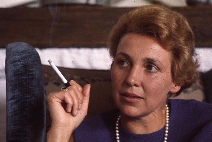 Marianne Strauß in den 1960er-Jahren in Rott am Inn
