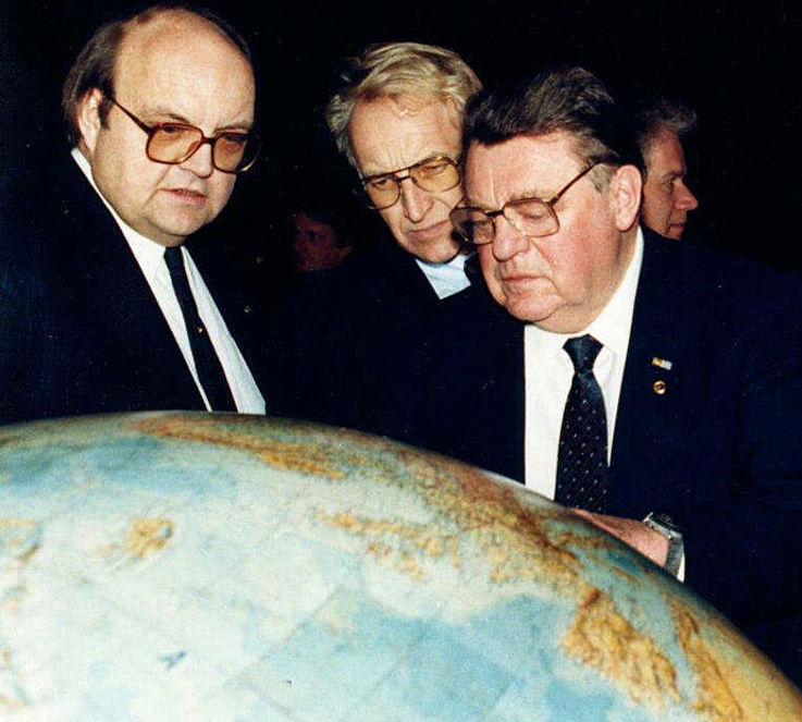 Mit Wilfried Scharnagl und Edmund Stoiber während der Reise nach Moskau 1987