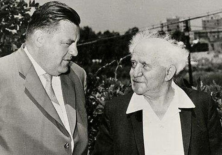 Franz Josef Strauß mit David Ben Gurion 1963