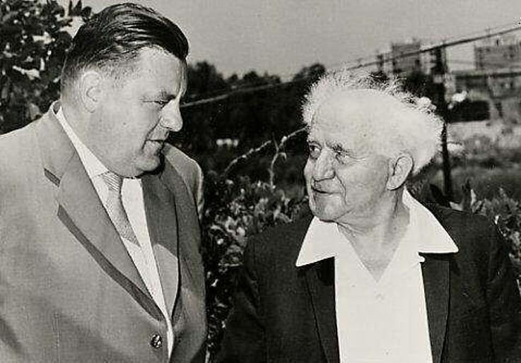 Mit David Ben Gurion 1963