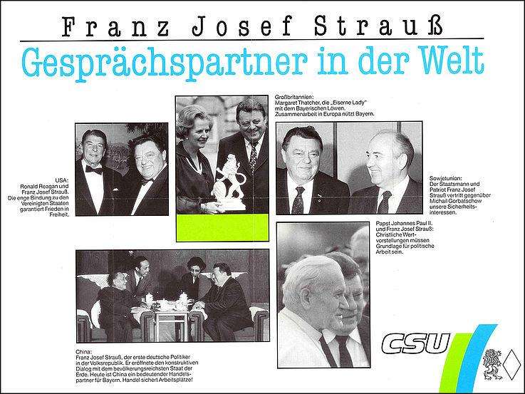 Mit Reagan, Thatcher, Gorbatschow, Deng Xiaoping und Papst Johannes Paul II.