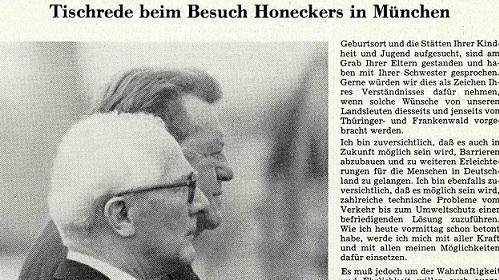 Franz Josef Strauß: Der Schießbefehl muß weg!