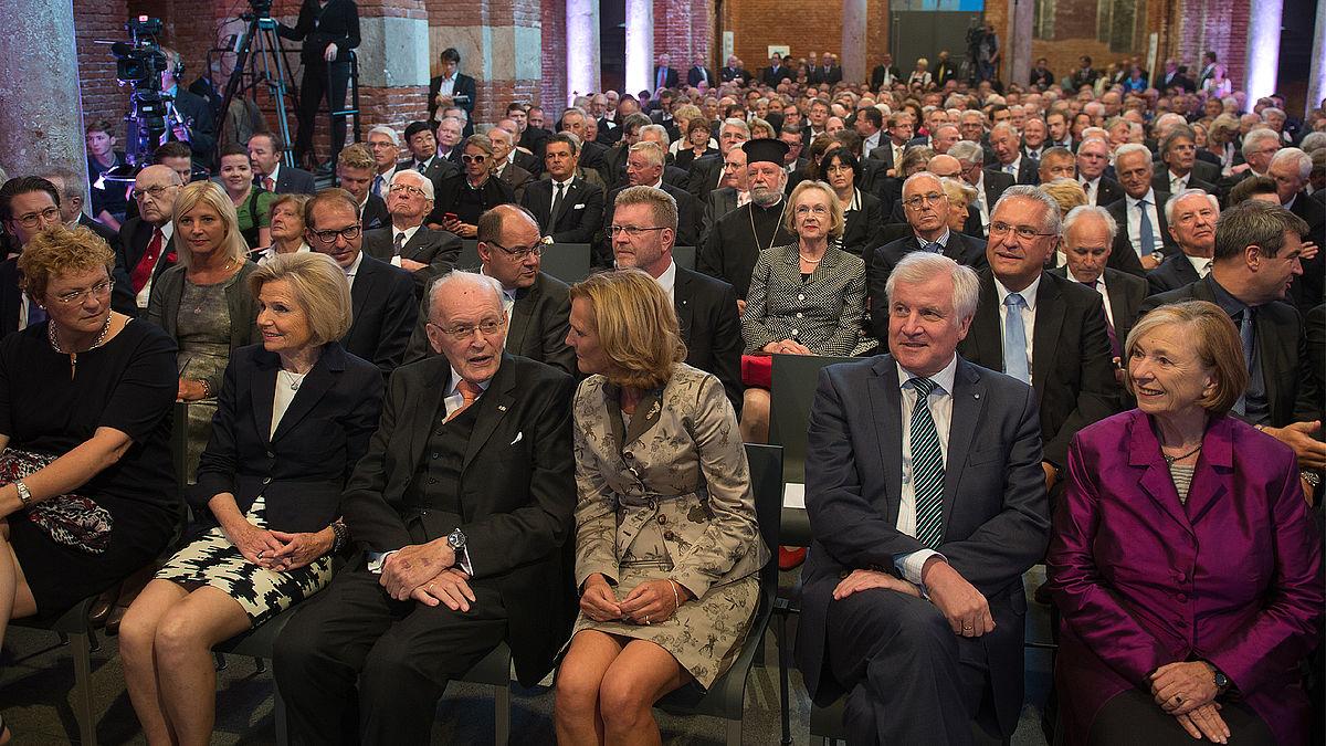 Ein Blick ins Publikum beim Festakt zum 100. Geburstag von Franz Josef Strauß: Horst Seehofer, Ursula Maennle, Joachim Herrmann, Markus Söder u.a.