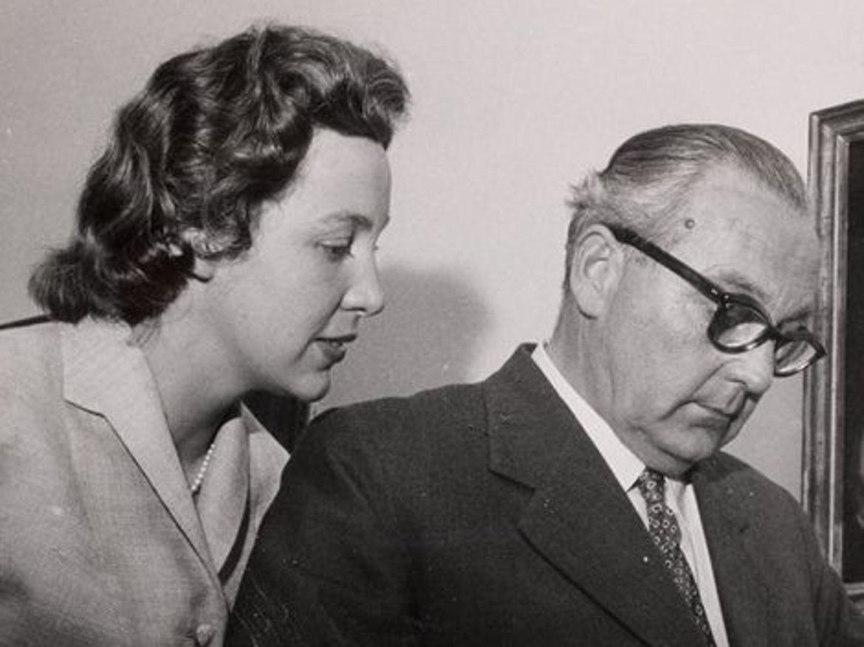 Mit ihrem Vater Max Zwicknagl 1957