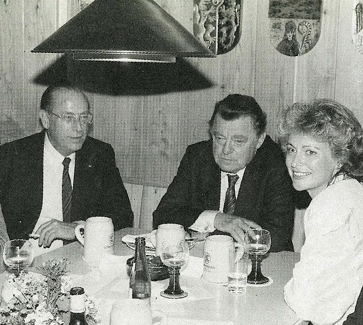 Mit Michaela Geiger und Friedrich Zimmermann 1987