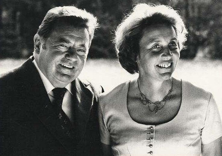 Ehepaar Strauß 1976