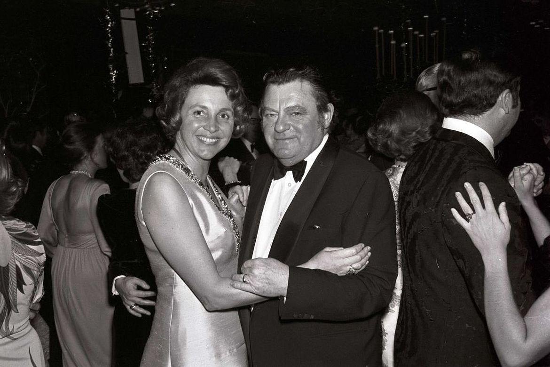 Marianne und Franz Josef Strauß auf dem Filmball im Bayerischen Hof 1974