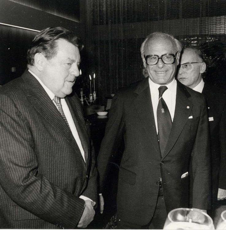 Im Gespräch mit dem Präsidenten der Industrie- und Handelskammer für München und Oberbayern Rolf Rodenstock 1979