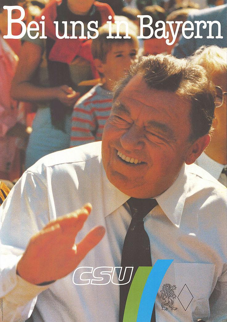 """""""Bei uns in Bayern"""" Plakat zur Landtagswahl 1986"""