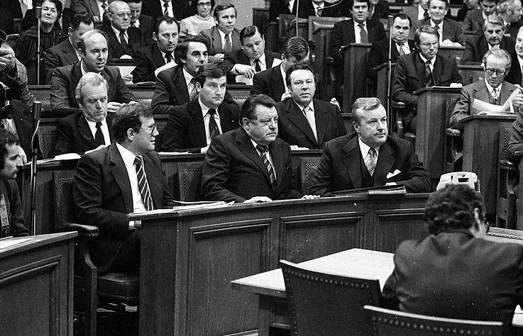 Wahl von Franz Josef Strauß zum Ministerpräsidenten im Bayerischen Landtag am 6. November 1978