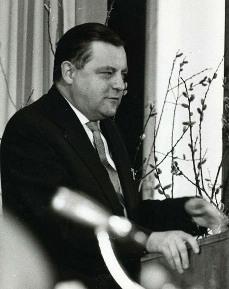 Während der Rede anlässlich der Wahl zum Parteivorsitzenden
