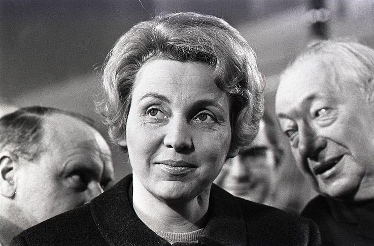 Marianne Strauß auf dem CSU-Parteitag 1968 in München
