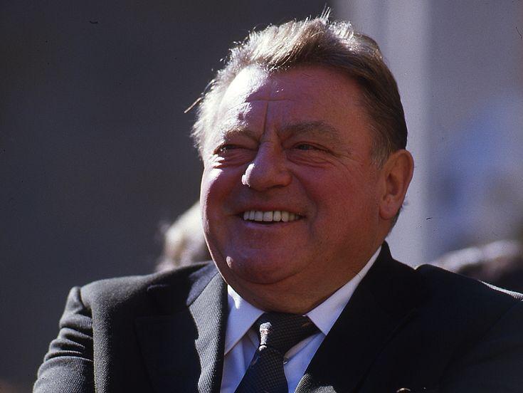 Feierlichkeiten zum 70. Geburtstag von Franz Josef Strauß vor der Feldherrenhalle in München 1985