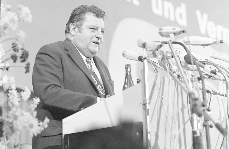 Franz Josef Strauß auf dem CSU-Parteitag 1972 in München