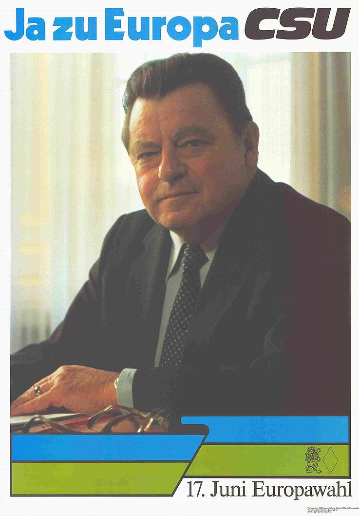 """""""Ja zu Europa"""" Plakat zur Europawahl 1984"""