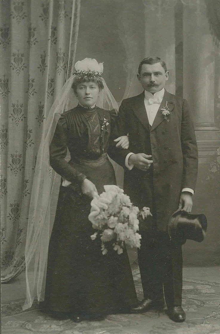 Hochzeitsbild von Walburga und Franz Josef Strauß 1906