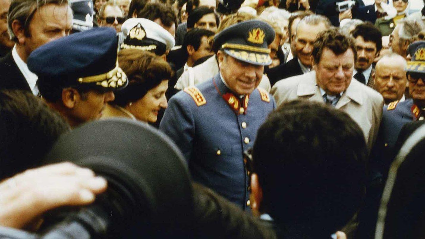 Franz Josef Strauß mit General Pinochet am Lago Llanquihue im November 1977