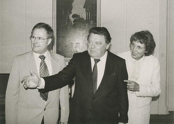 Rainer Bäurich bei seinem Besuch in der Bayerischen Staatskanzlei 1983