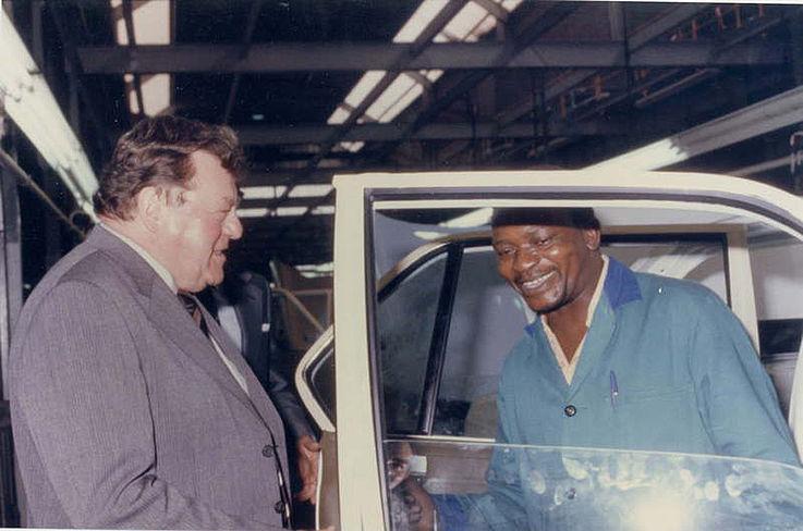 Besuch des BMW-Werks Rosslyn/Südafrika 1982