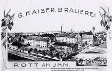 Ansicht der Brauerei und des Gutshofs der Familie Zwicknagl: Kaiserbräu Rott am Inn um 1900