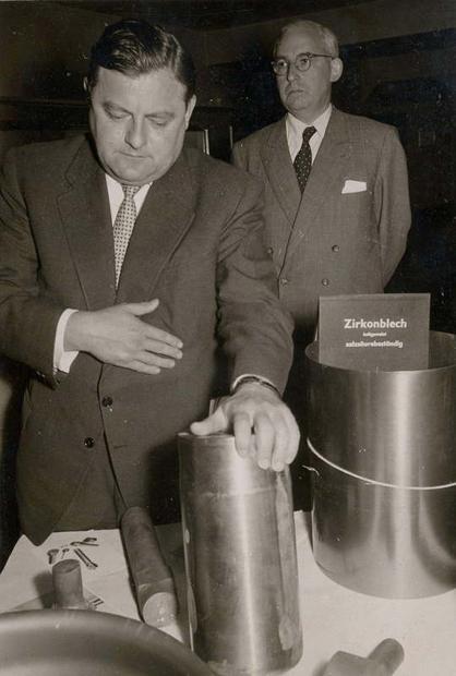 Besuch der Firma Friedrich Krupp in Essen 1956