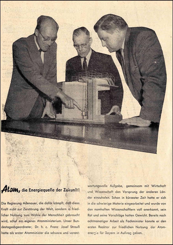 """""""Franz Josef Strauß. Bundesverteidigungsminister. Ein Rechenschaftsbericht 1953-1957"""" Kandidatenbrief zur Bundestagswahl 1957"""